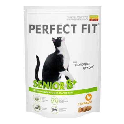Сухой корм для кошек Perfect Fit Senior 8+, для пожилых, курица, 0,19кг