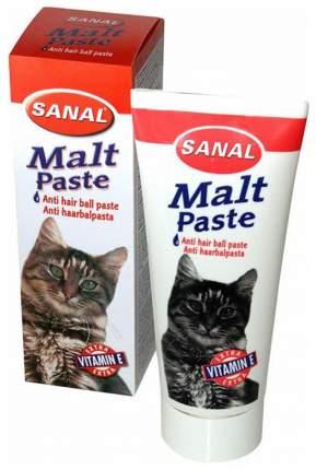 Мальт-паста для выведения шерсти для кошек Sanal, 100 г