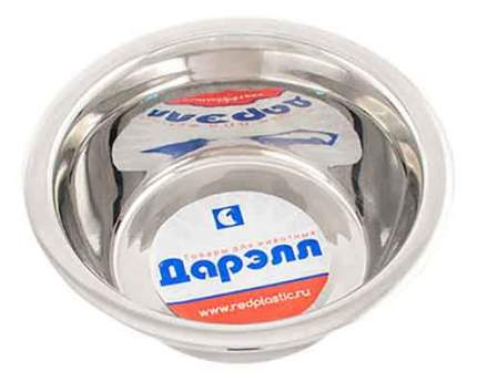 Одинарная миска для кошек Дарэлл, сталь, серебристый, 0.4 л