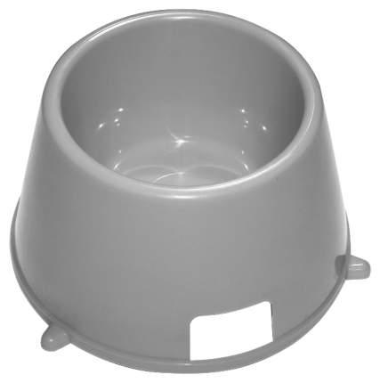 Одинарная миска для кошек и собак Зооник, пластик, в ассортименте, 0.55 л