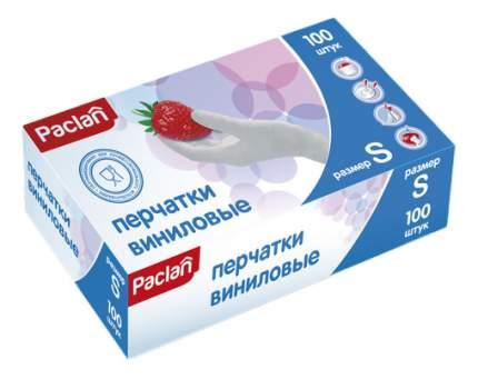 Перчатки для уборки Paclan Виниловые 100 шт. размер S