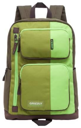 Рюкзак Grizzly RU-619-1 салатовый/зеленый/хаки 14 л