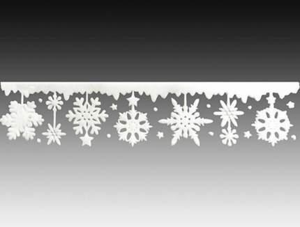 Наклейки для окна Танцующие Снежинки 40*10 см RD-60220