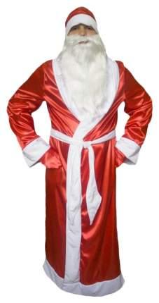 Новогодний костюм Дед Мороз Атласный от 12 лет 48-50 размер 2478
