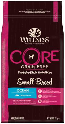 Сухой корм для собак Wellness CORE Small Breed Ocean, для мелких пород, лосось, 1,5кг