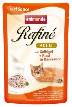 Влажный корм для кошек Animonda Rafine Adult домашняя птица и говядина в сырном соусе 100г