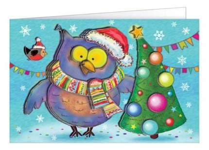 Набор для изготовления открытки Совушкина елка Клевер АБ 23-505