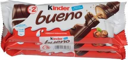 Шоколадный батончик bueno Kinder с молочно-ореховой начинкой 43 г 3 штуки