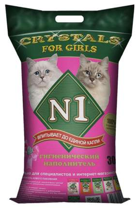 Впитывающий наполнитель для кошек №1 Crystals For Girls силикагелевый, 12.2 кг, 30 л