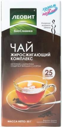 Чай Леовит худеем за неделю жиросжигающий комплекс 2 г 25 пакетиков