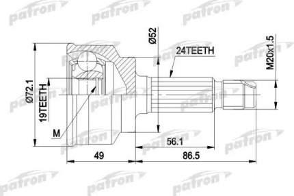 Шрус PATRON PCV1171