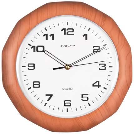 Часы Energy ЕС-15 Белый, коричневый
