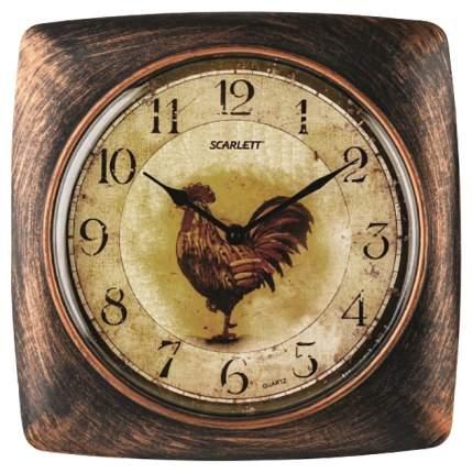 Часы Scarlett SC-WC1003K Коричневый, желтый