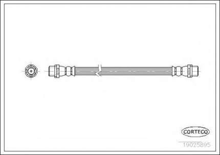 Шланг тормозной Corteco 19025895