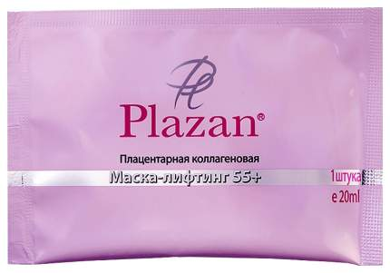 Маска-лифтинг для лица Plazan плацентарная коллагеновая 55+, 1 шт