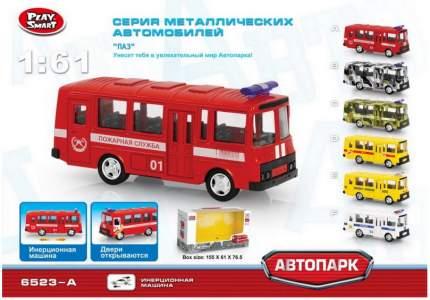 Инерционный металлический автобус пожарный Play Smart 1:61 Р49226