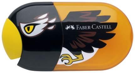 Точилка Faber-Castell с контейнером и ластиком, с двумя отверстиями Орёл