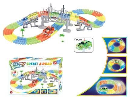 Автотрек Junfa Toys гибкий 144 детали WB-A8849