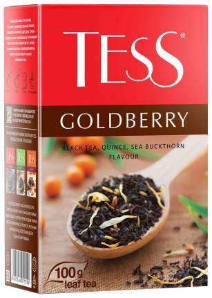 Чай черный Tess goldberry листовой ягодный 100 г