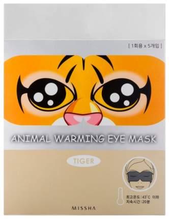 Маска для глаз Missha Animal Warming Eye Mask Tiger (Аромат розы) 20 гр