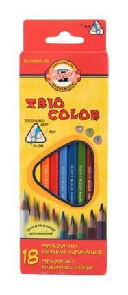 Карандаши цветные KOH-I-NOOR Triocolor 18 цветов