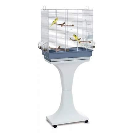 Клетка для птиц Imac Camilla, на колесах и подставке, 50x30x57/129 см, белая с серым