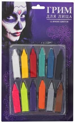 Грим - карандаши для лица, 12 цветов по 0,9 гр Sima-Land