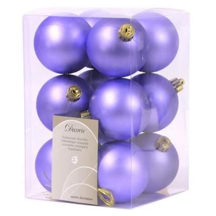 Набор шаров на ель Kaemingk 945529m-сиреневый 6 см 12 шт.