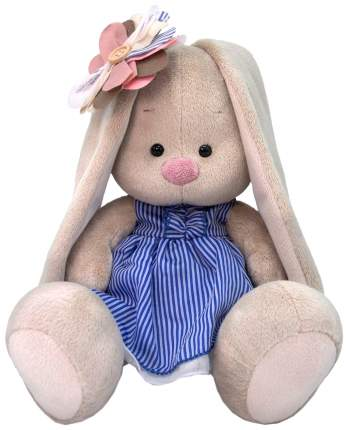 Мягкая игрушка BUDI BASA Зайка Ми с полосатым цветком, 18 см