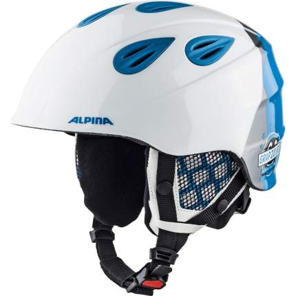 Горнолыжный шлем Alpina Grap 2.0 JR 2019, белый/серый, M