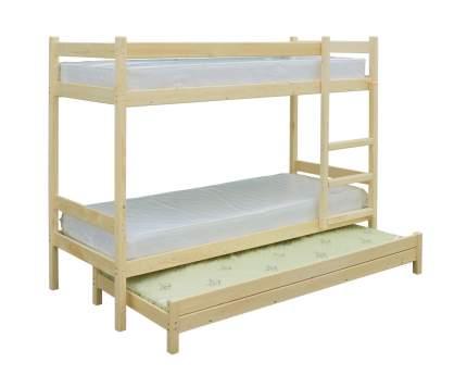 Двухъярусная кровать Green Mebel «3 в 1» Натуральный