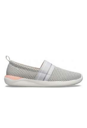 Балетки женские Crocs Literide mesh slip on w-2 серые 37.5 RU