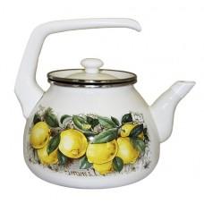 Чайник для плиты Interos Лимоны 3,0л эмалированный с кр.