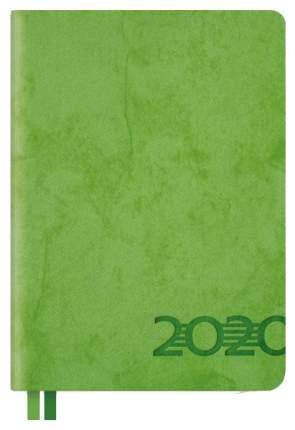 Ежедневник датированный на 2020 год Феникс+ «Джинс делавэ» А6+, 176 листов Салатовый