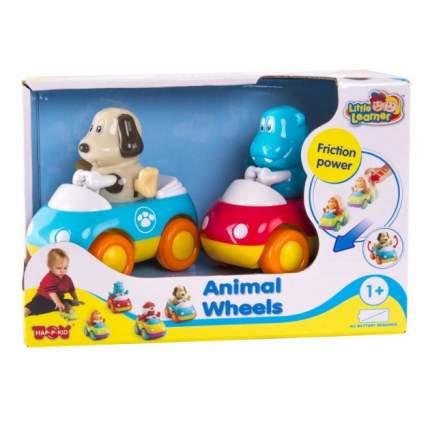 Инерционные машинки Hap-p-Kid Зверушки на колесиках, щенок и бегемотик