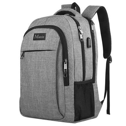 "Рюкзак для ноутбука Big Matein Mlassic, 17"", серый"