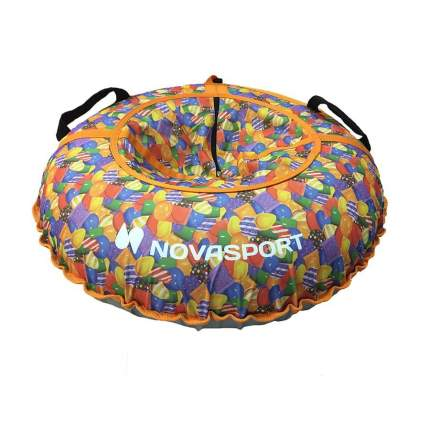 Тюбинг NovaSport 90 см без камеры CH030.090 оранжевый/разноцветные конфеты леденцы