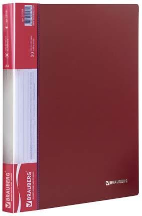 Папка BRAUBERG 221598 Красный A4