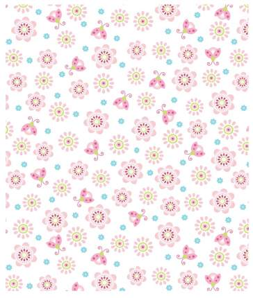 Плед Baby Nice Цветы, 100х118 см, розовый