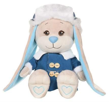 """Мягкая игрушка """"Зайка Жак"""" в синей дубленке и шапке-ушанке 25 см JL-051930-25 Jack and Lin"""