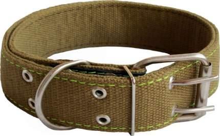 Ошейник для собак Киспис, брезентовый, двойной, оливковый, 45мм х 63,5 см