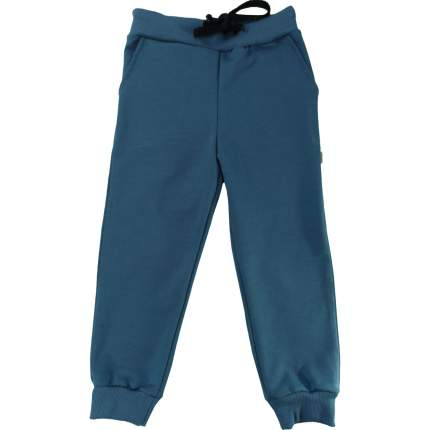 Штаны Папитто Индиго футер с карманами, на манжетах, размер 98