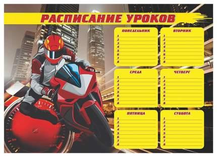"""Плакат """"Расписание уроков"""" (гонщик): Формат А3"""
