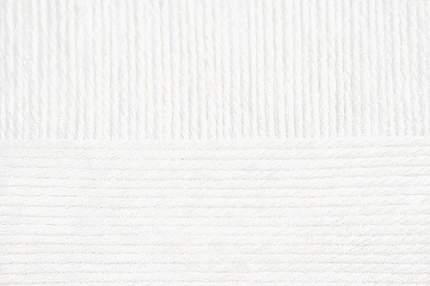 Пряжа для вязания Пехорка Детский каприз тёплый 10 шт. по 50 г 125 м цвет 001 белый