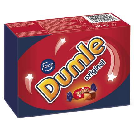 Конфеты Fazer Dumle original ирис в молочном шоколаде 150 г