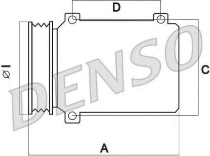 Компрессор кондиционера Denso DCP23031