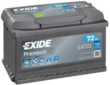 Аккумулятор автомобильный EXIDE EA722 72 Ач