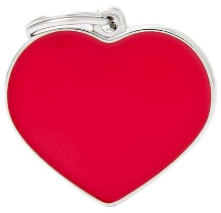 Подвеска для собак My Family My Family Basic Handmade в форме сердца 2,5 см, красный