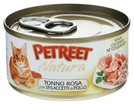 Консервы для кошек Petreet Natura, курица, тунец, 70 г 12 шт
