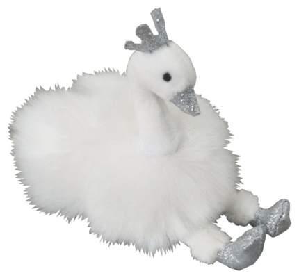 Мягкая игрушка ABtoys Лебедь белый, на брелке 9 см